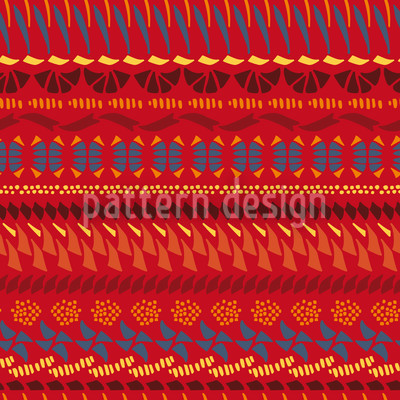 Multi Kulti Red Seamless Vector Pattern