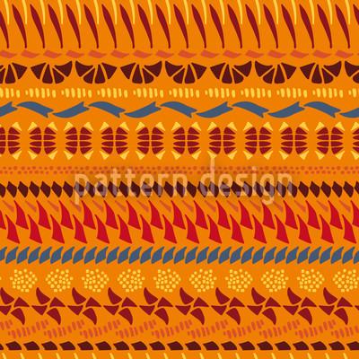 Multi Kulti Orange Vector Pattern