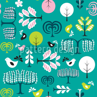 Forest Glade Vector Ornament