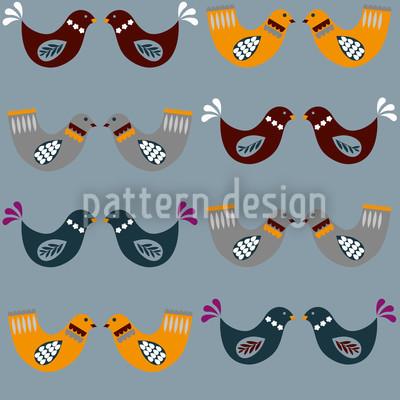 Bird Wedding Pattern Design