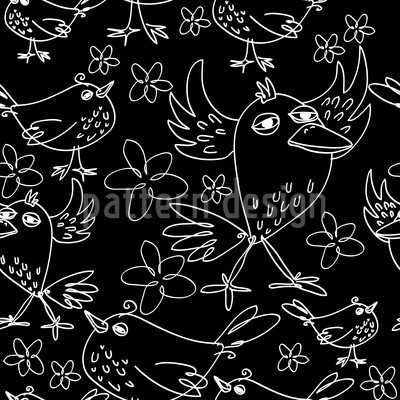 Songbird Sing Repeating Pattern