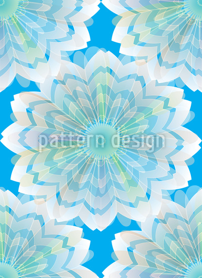 Flower Veil Seamless Vector Pattern