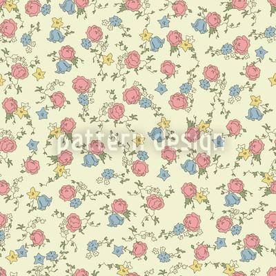 Rosenrot Und Himmelblau Muster Design