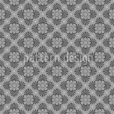 Bloom Grey Vector Ornament