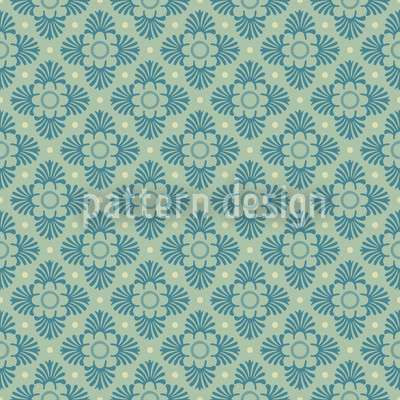 Bloom Green Seamless Pattern