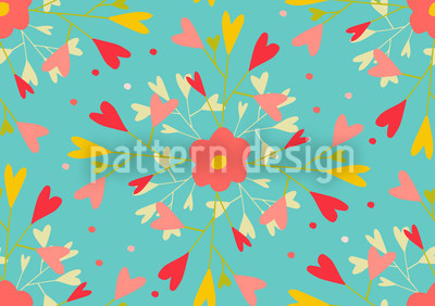 Sie Liebt Mich Muster Design