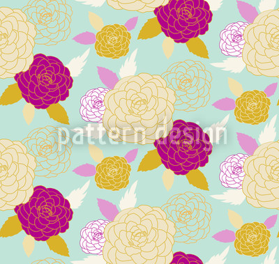 Pompon Rose Pattern Design
