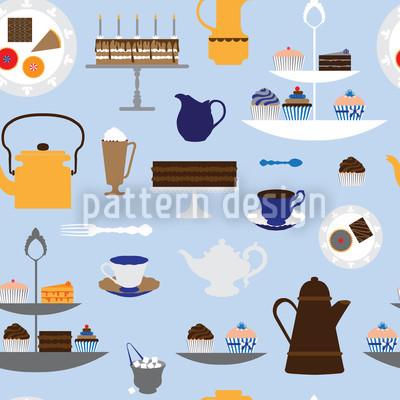 Kaffee Mit Sahne Vektor Ornament