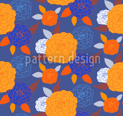 Pompon Blau Nahtloses Vektor Muster