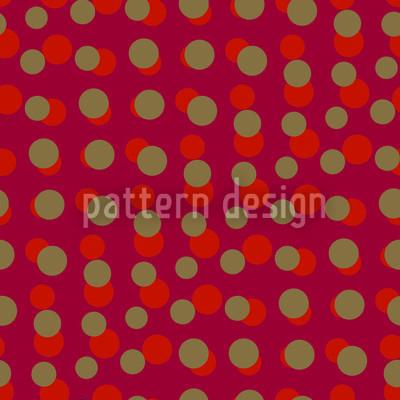 Dotty Rot Vektor Muster