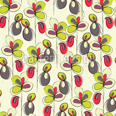 Lucky Flowers Seamless Vector Pattern