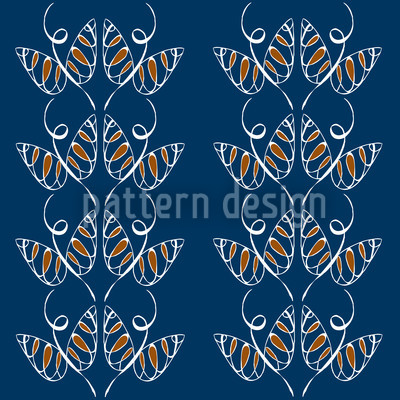 Attracting Butterflies In Blue Pattern Design