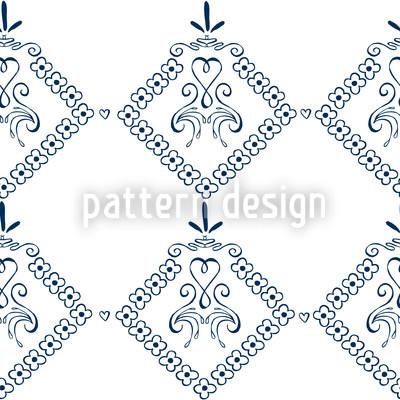 Dekora Blau Nahtloses Muster