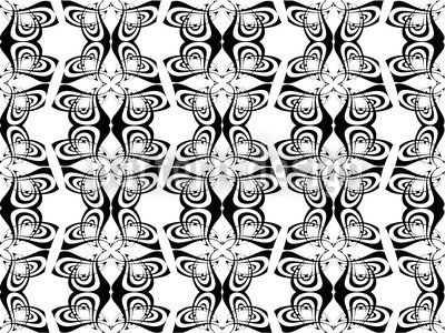Black And White Abstract Vector Ornament