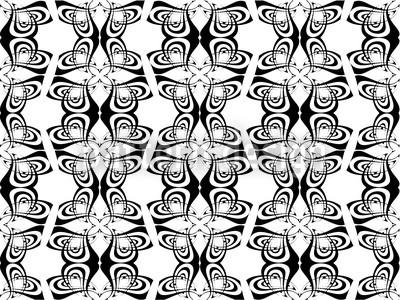 Schwarzweiß Abstrakt Vektor Ornament