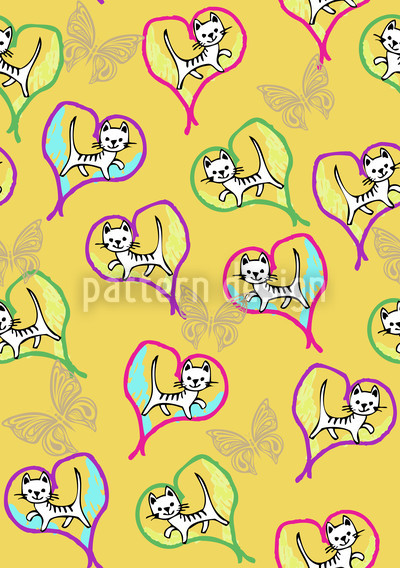 Love Cats Vector Design