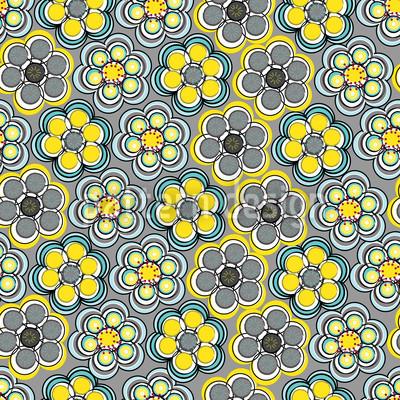 Express Gelb Rapportiertes Design
