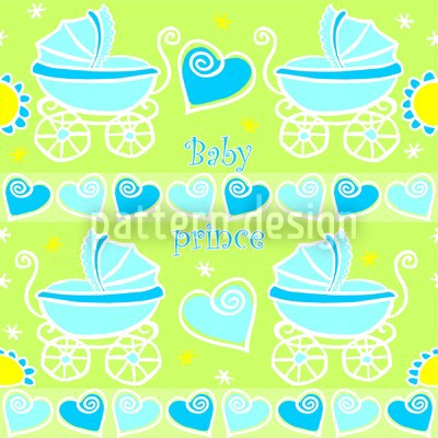 Neon Baby Blau Designmuster