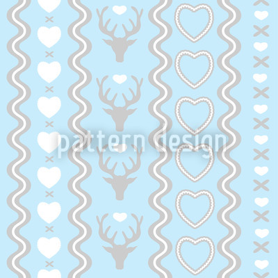 Mating Season Pastel Vector Ornament