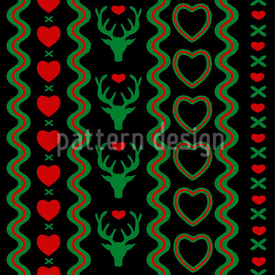 Mating Season Extreme Seamless Pattern