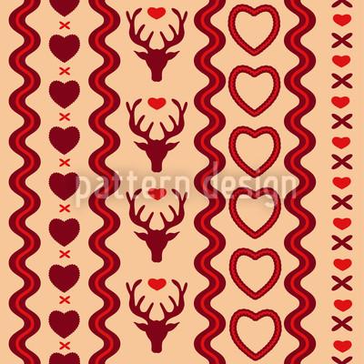Auf Der Balz Amor Nahtloses Vektor Muster