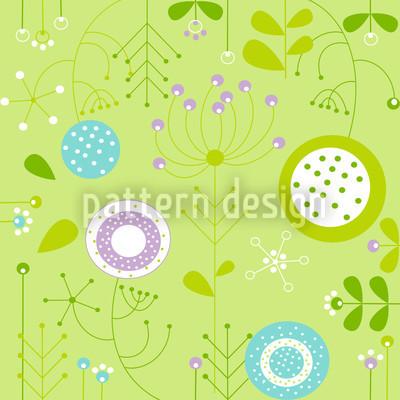 Liljana Verde Muster Design