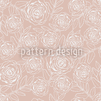 Rosengravur Nahtloses Vektor Muster