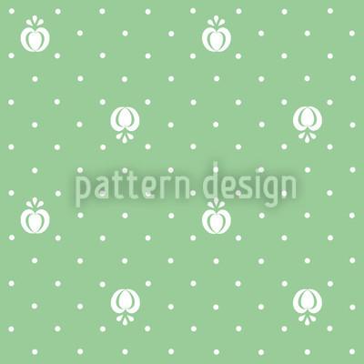 Fruits On Green Pattern Design