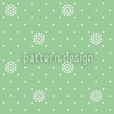 Blümchen Auf Grün Designmuster