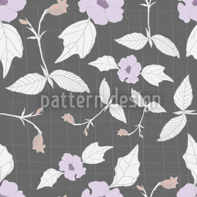 Floral Network Vector Ornament