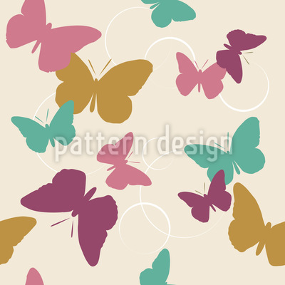 Time Of The Butterflies Vintage Pattern Design