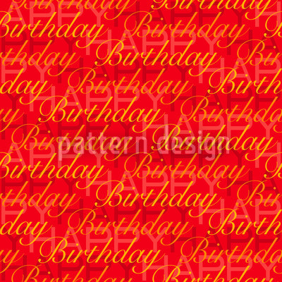 Happy Birthday Rot Designmuster
