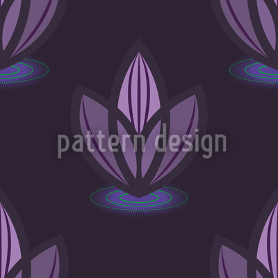 Lotus Lila Vektor Muster