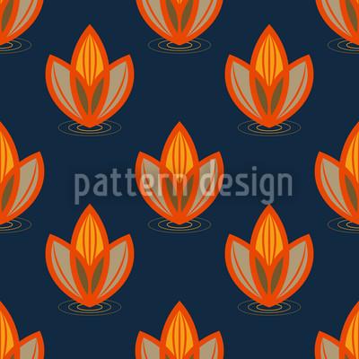 Lotus Orange Designmuster