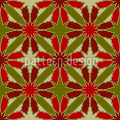 Etoiles De Rouge Repeating Pattern