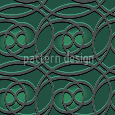 Keltisch Smaragd Musterdesign