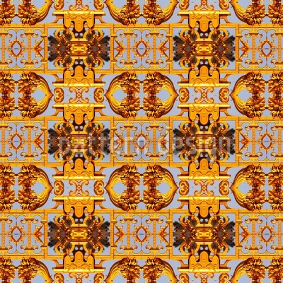 Aztec  Treasures Seamless Vector Pattern