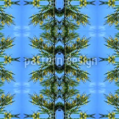 In The Blue Pinewood Pattern Design