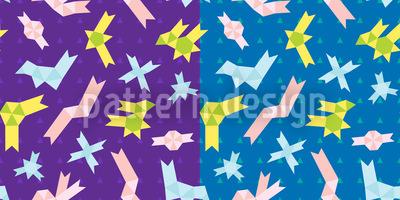 Origami Zeit Musterdesign