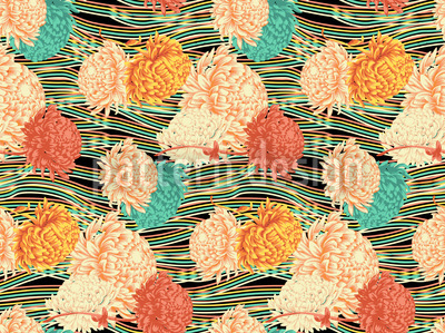 Floral Flow Seamless Vector Pattern
