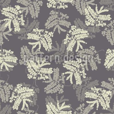 Acacia Leaves Vector Pattern