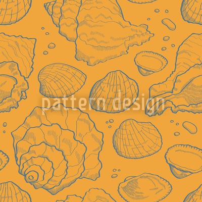 Meeresmuscheln Gold Vektor Ornament