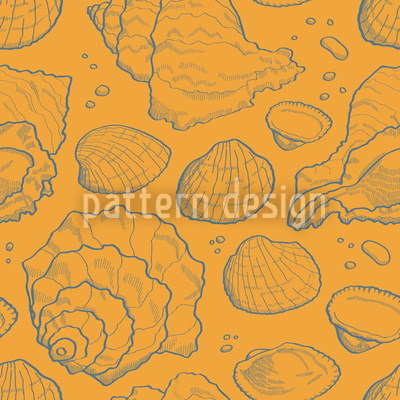 Seashell Gold Vector Ornament