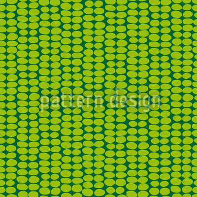Leaf Green Retro Vector Design