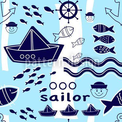 Little Sailor Repeating Pattern
