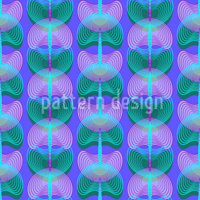 Mollusken Blau Rapportiertes Design