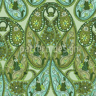 Paisley Mysterioso Nahtloses Vektor Muster
