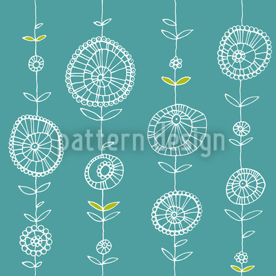 Blumenketten Blau Vektor Design