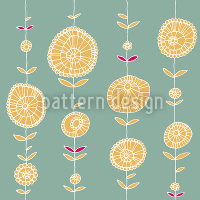 Lei Yellow Repeating Pattern