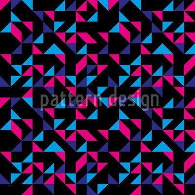 Retro Dreiecke Muster Design